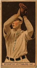 1912 Brown Backgrounds T207 #116 Alex McCarthy Front