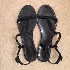 Rebecca Minkoff Sava tstrap jelly sandals Oh it hurts my heart to post these beautiful shoes. These Rebecca Minkoff Sava tstrap jelly sandals have only been worn once and unfortunately they just don't work for my foot type  Will ship in original box. Rebecca Minkoff Shoes Sandals