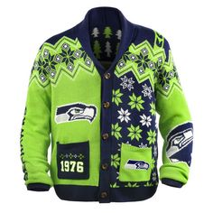 awesome ugly seahawks cardigan from uglyteamscom totally getting this carolina panthers football all - Seahawks Christmas Sweater