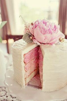 www.weddbook.com everything about wedding ♥ Special  Wedding Cake ♥ Yummy Ombre Wedding Cakes #ombre #pink #vintage
