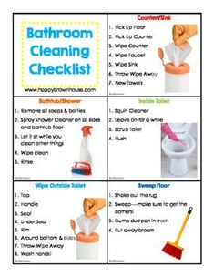 Editable Chore Cards for Kids - Cleaning Hacks All You Need Is, That Way, Just In Case, Deep Cleaning Tips, House Cleaning Tips, Cleaning Hacks, Speed Cleaning, Cleaning Master, Bathroom Cleaning Checklist