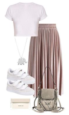 A fashion look from November 2017 featuring Chicwish skirts, Puma sneakers and Chloé backpacks. Browse and shop related looks. Classy Outfits, Stylish Outfits, Fashion Outfits, Womens Fashion, Fashion Trends, Traje Casual, Looks Chic, Polyvore Outfits, Daily Fashion