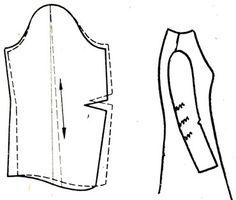Рис. 129. Смещение длинного рукава