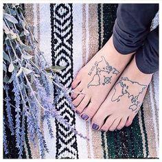 Philippe leblond world map tattoo feet travel wanderlust tattoos philippe leblond world map tattoo feet travel wanderlust tattoos pinterest map tattoos tattoo feet and tattoo gumiabroncs Images