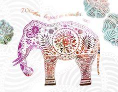 Elephant Wisdom - 10x8 Metallic Print. $20.00, via Etsy.