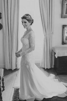 Vestido de noiva manga longa - casamento na fazenda ( Vestido Danielle Benício | Foto: Thiago Bertulino )