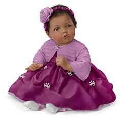 Elly Knoops Pretty As A Princess Poseable Lifelike Baby Girl Doll - Realistic Baby Dolls