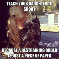 I have my father to thank for this. Seriously, every woman should know how to handle a gun safely for her own protection.