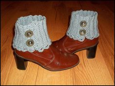 crochet boot covers | Boot Spats, Boot Cuffs, Ankle warmers, Boot Covers, Crochet, Slate ...