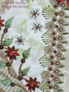 Crazy Quilting and Embroidery Blog by Pamela Kellogg of Kitty and Me Designs: CQ Seam Embellishments