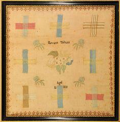 darning sampler -1820 Maryann Tailman - aged 12