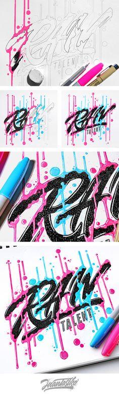 Hand lettering artworks