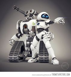 Wall-E and Eve all grown up…