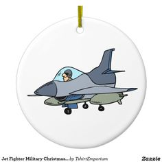 Jet Fighter Military Christmas Ornament