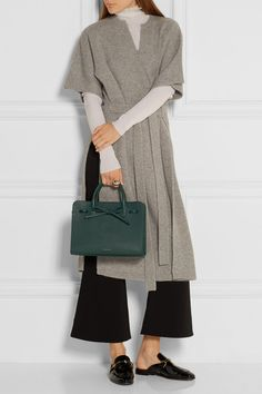 Mansur Gavriel | Sun mini textured-leather tote | NET-A-PORTER.COM