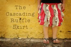 So cute! and so is the skirt.  Cascading Ruffle Skirt via @WeeShare using @lilblueboo template and tutorial.  I want to make one for me