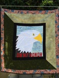 Eagle Scout, Boy Scout quilt wallhanging to display patches, custom made by WithAGrandmasLove on Etsy