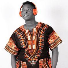 Black and Orange African Dashiki Shirt Only $15