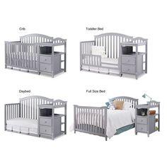 kleinkind zimmer Sorelle Berkley 4 in 1 Crib and Changer - Gray - Baby Nursery Furniture, Baby Room Decor, Nursery Room, Baby Room Themes, Baby Room Diy, Children Furniture, Baby Crib Diy, Baby Beds, Baby Crib Bedding