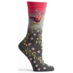 Floral Bird Sock