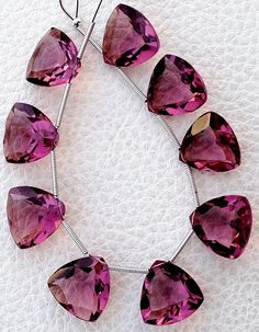 Brand New LAVENDAR PINK QUARTZ Faceted Pyramid Shape Briolettes,10x6mm size,Superb Item at Low Price Full 6 Inch Strand