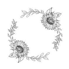 Blooming Sunflower, Sunflower Flower, Sunflower Design, Sunflower Wreaths, Sunflower Illustration, Butterfly Illustration, Skull Illustration, Flower Background Wallpaper, Flower Backgrounds