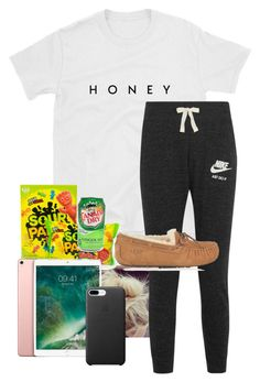 """"""""""" by lhnlila on Polyvore featuring NIKE, UGG and Apple"""