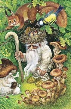Русская нечисть. Иллюстрация Ивана Цыганкова Tags: fairy, мифология, фантазии #fae folk  #folktales #fantasy art