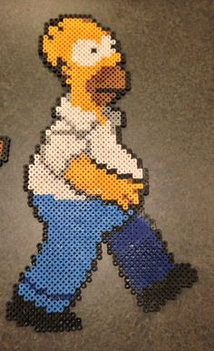 Homer Simpson perler beads by Saneps on deviantart