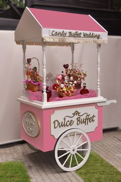 Znalezione obrazy dla zapytania Pick and Mix carts Candy Table, Candy Buffet, Dessert Table, Candy Stand, Sweet Carts, Ice Cream Cart, Candy Cart, Flower Cart, Snacks Für Party