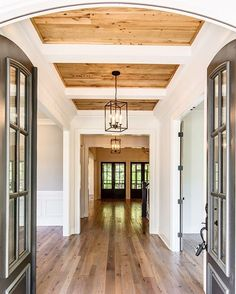 Awesome entry - open all the way to the back!  Amazing ceiling - Vintage South Development (@vintagesouthdevelopment) on Instagram