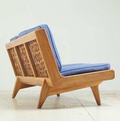 Carl Gustaf Hiort af Ornäs; Oak and Leather 'Trienna' Sofa, 1950s.