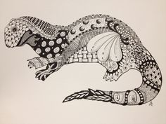 Zentangle piece for my daughter who loves otters.