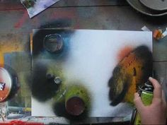 Spray paint art tutorial spacepainting - Its soooo cool, but no way your average person could do it.