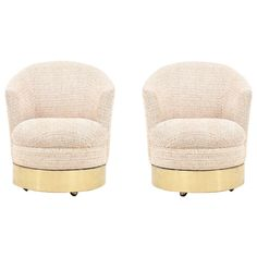 Pair of Karl Springer Barrel or Club Lounge Chairs | See more antique and modern Lounge Chairs at http://www.1stdibs.com/furniture/seating/lounge-chairs