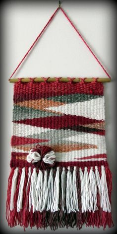 Woven wall hanging Wall hanging tapestry by FineBubbles on Etsy