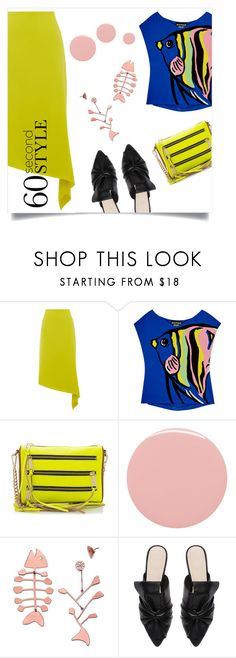 """""""something fishy"""" by collagette ❤ liked on Polyvore featuring Warehouse, Boutique Moschino, Rebecca Minkoff, Lauren B. Beauty, Tory Burch and Witchery"""