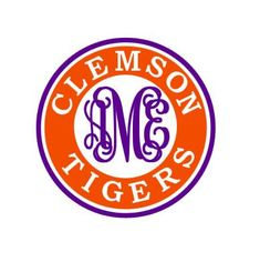 Clemson Tigers monogram instant download cut file  by bibberberry
