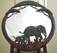 .Elephant Mirror.               t