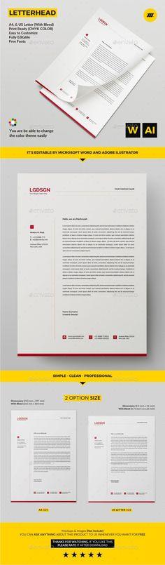 #Letterhead - #Stationery Print Templates Download here: https://graphicriver.net/item/letterhead/20134296?ref=alena994