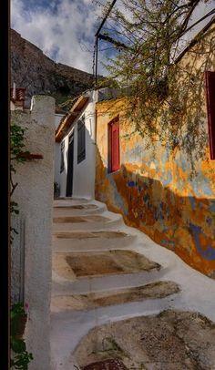 Plaka district ~ Athens, Greece   Photo by Sadegh Miri