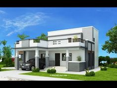 Modern house design modern house exterior design in india . Architect Design House, House Roof Design, Small House Design, Cool House Designs, Modern House Design, Bungalow Haus Design, Modern Bungalow House, House Construction Plan, Beautiful House Plans