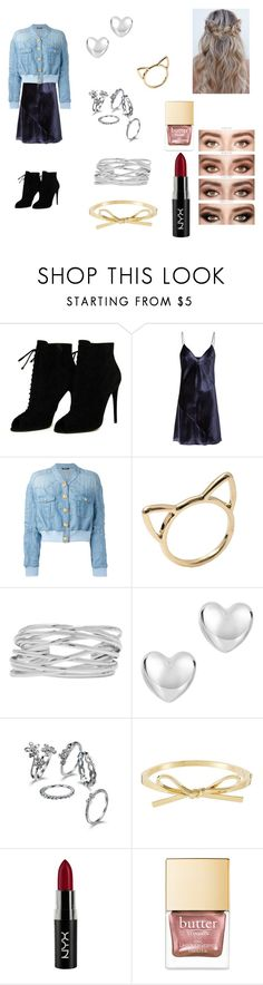 """""""It's in my Jeans"""" by xgalaxyunicornx on Polyvore featuring Tom Ford, Fleur du Mal, Balmain, M&Co and NYX"""