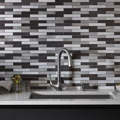 Choose a mid-tone or darker color for your grout and the mosaic tile will blend together more than using a white. For more about grout color see our blog posted on our facebook page #saturdayspecials #JCHDtrends @kohlerco @studiobstyle @_tnehottephoto_ #inspo #homeinspiration #decor #tiles #tilework #tileaddiction #instahomes #kitchen #designinspiration