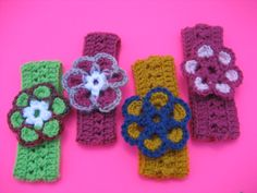 colorful headbands with flowers