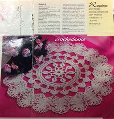 Crochês de Analu: Toalhinha redonda...