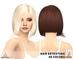 Hair retexture / Nightcrawler hair01 / 42 colors