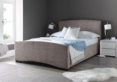 The Bella bed frame in mink