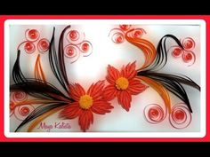 How to make DIY paper quilling DESIGNS - Art / Flower Design / Ideas Tutorial! - YouTube