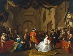 The Beggar's Opera, Scene 5, by William Hogarth, ca. 1728.